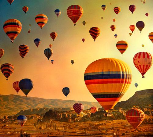 Qual o princípio físico de um balão voar?